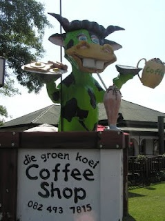 Great Green Cow in Ermelo