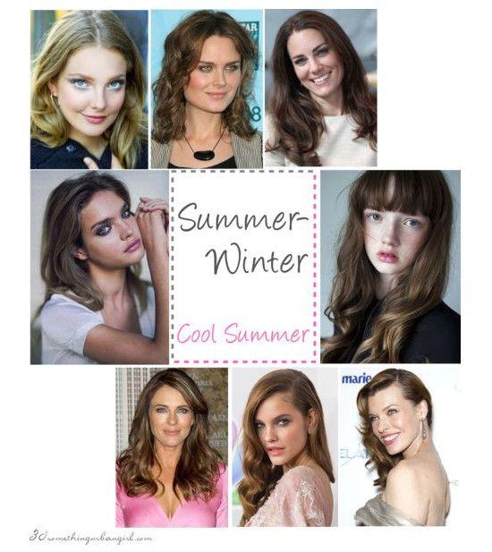antique winter color analysis | Summer-Winter, Coo lSummer seasonal color celebirity