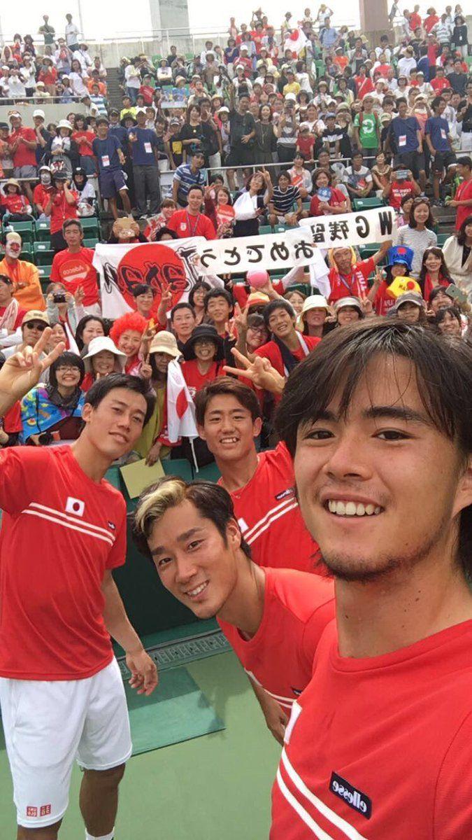 2016 Davis Cup Playoff Japan beat Ukraine.