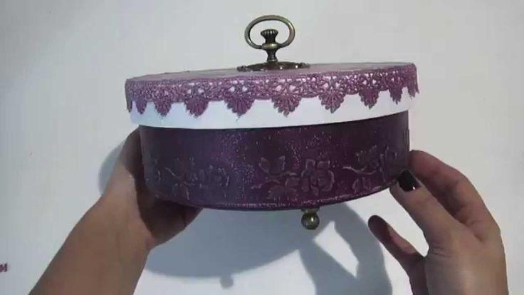 Video Aula:  Caixa Redonda Rosas | Livia Fiorelli | LifeArtesanato