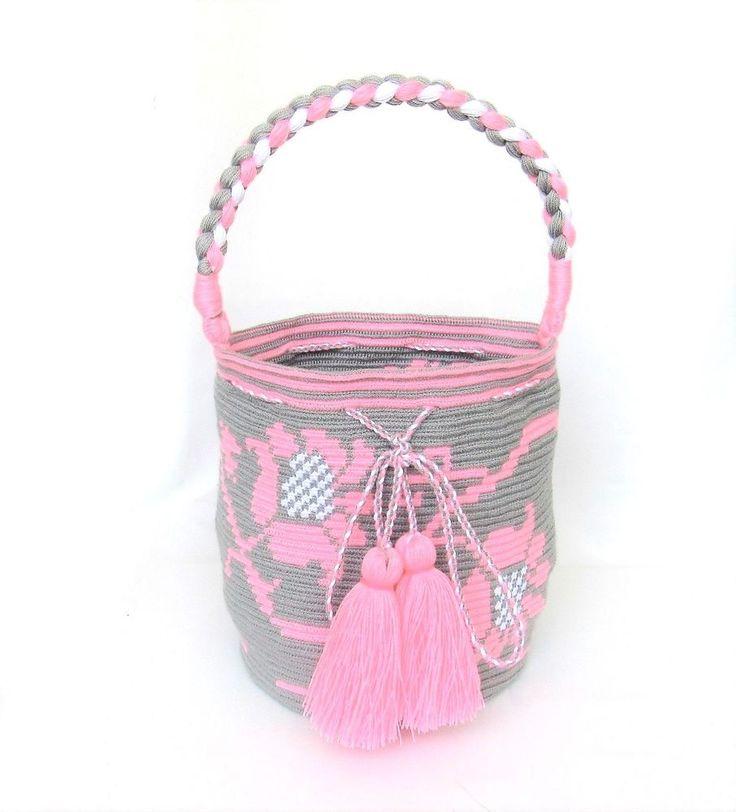 Exceptional WAYUU SINGLE THREAD MOCHILA bucket bag HANDMADE tote #Handmade #BucketBag