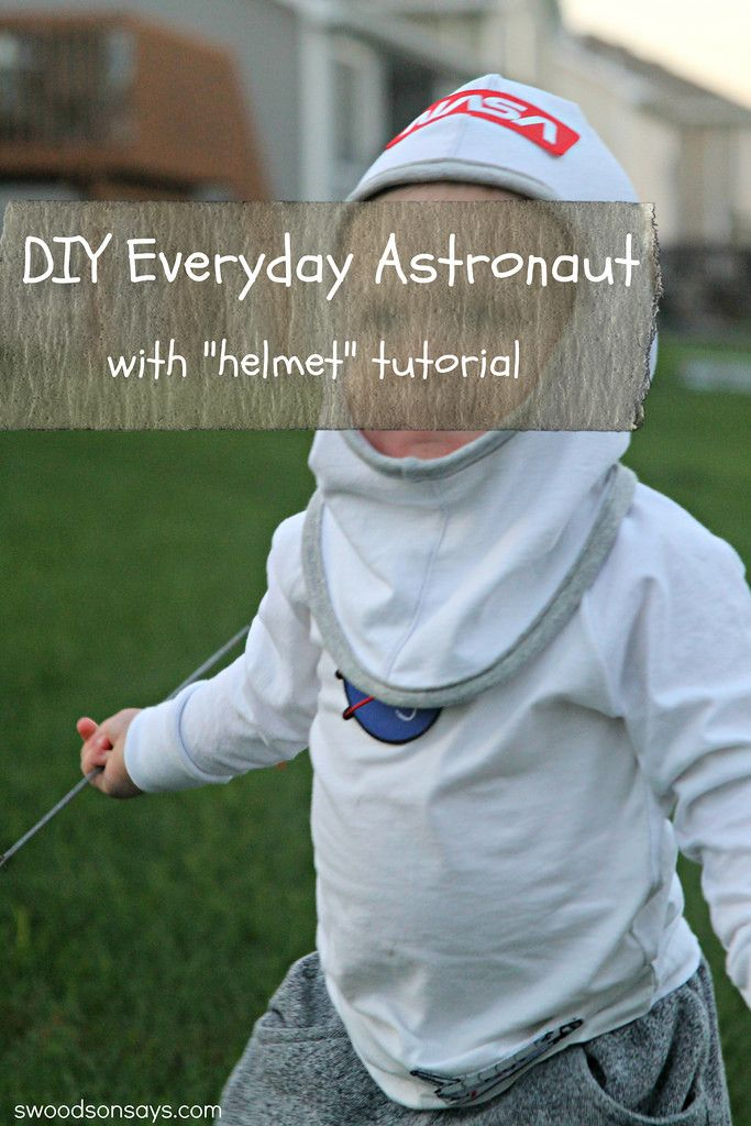 A tutorial for how to make your own kid's astronaut helmet for a costume or a dress-up accessory.
