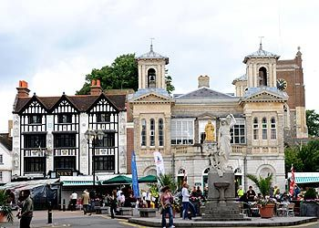 Market Square, Kingston Upon Thames - this is where I'm going to grad school, can't even wait!