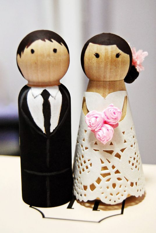 Diy Project Cake Topper Décor Decor Pinterest Wedding Toppers And