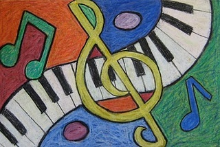 I am attempting to paint this to go over the piano in our school/music room.