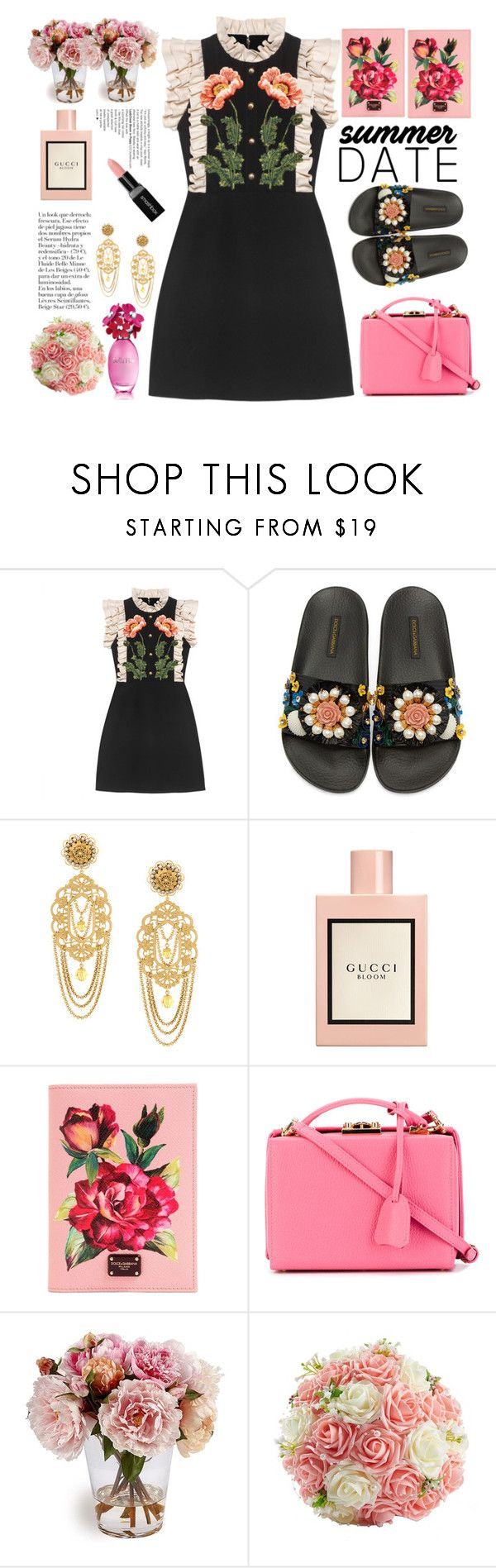 """""""summrer"""" by licethfashion on Polyvore featuring Gucci, Dolce&Gabbana, Mark Cross and Smashbox"""