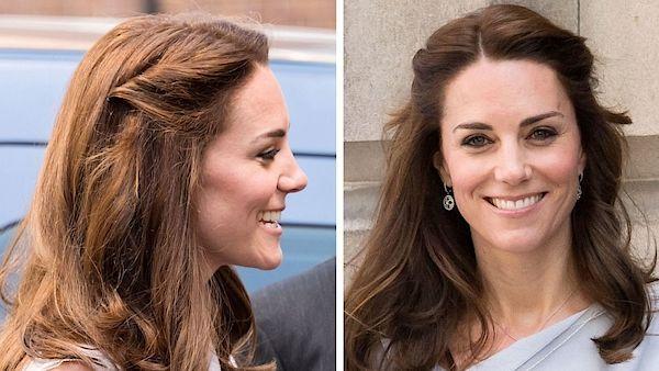 Při méně formální příležitosti nosí vévodkyně Kate rozpuštěné vlasy nebo zapletené prameny.