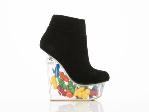 Hello Kitty X Jeffrey Campbell Icy HK in Black Suede Bows at Solestruck.com