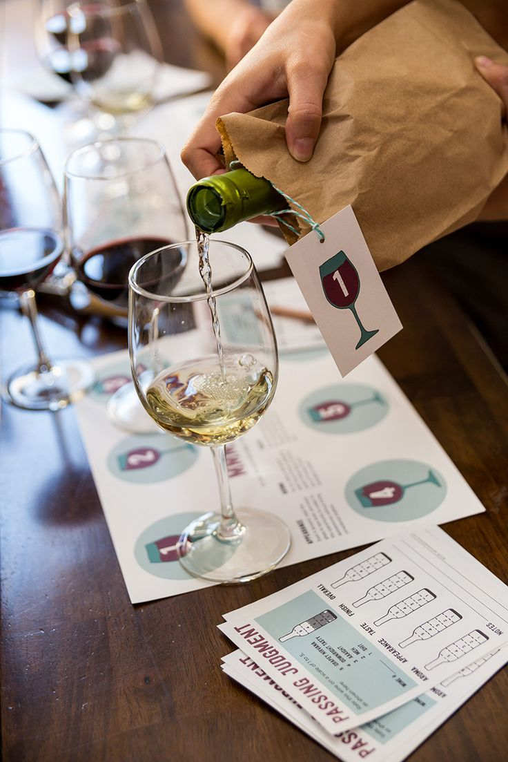 Host your own wine tasting party with this Printable Wine Tasting Party Kit from Semi Sweet Press #winetastingparty