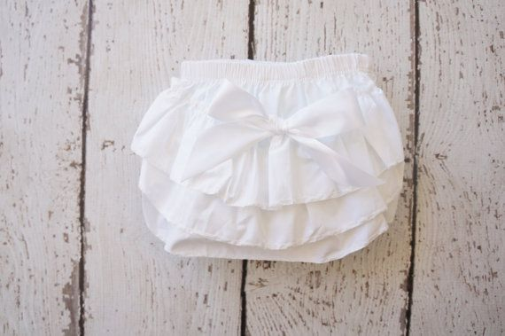 ivory ruffle diaper cover Diaper cover baby by PoshPeanutKids