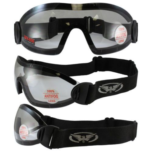 FLARE-GLOBAL-VISION-SKYDIVE-SKY-DIVING-GOGGLES-WHITE-CLEAR-ANTI-FOG