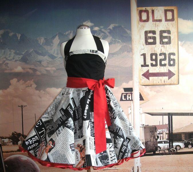 Rockabilly-Mode - Kinderpetticoatkleid Pin Up - ein Designerstück von Bonville-Fashion bei DaWanda