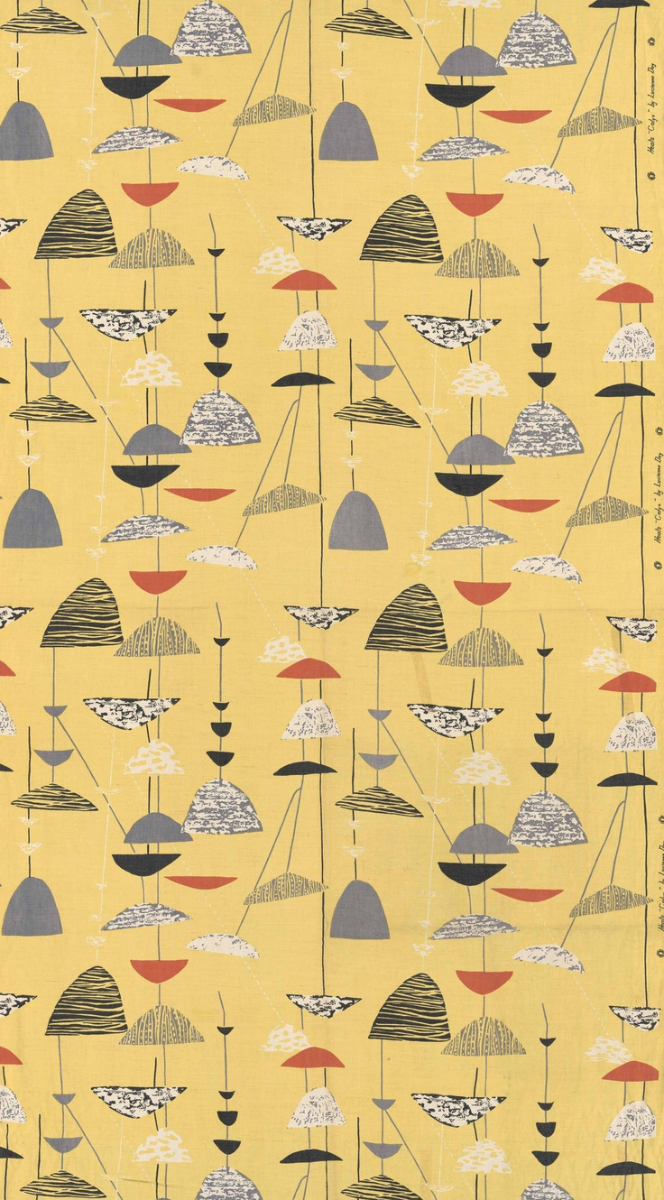 Furnishing fabric Calyx Lucienne Day 1951 photograph (c) V, courtesy of the Estate of Lucienne Day