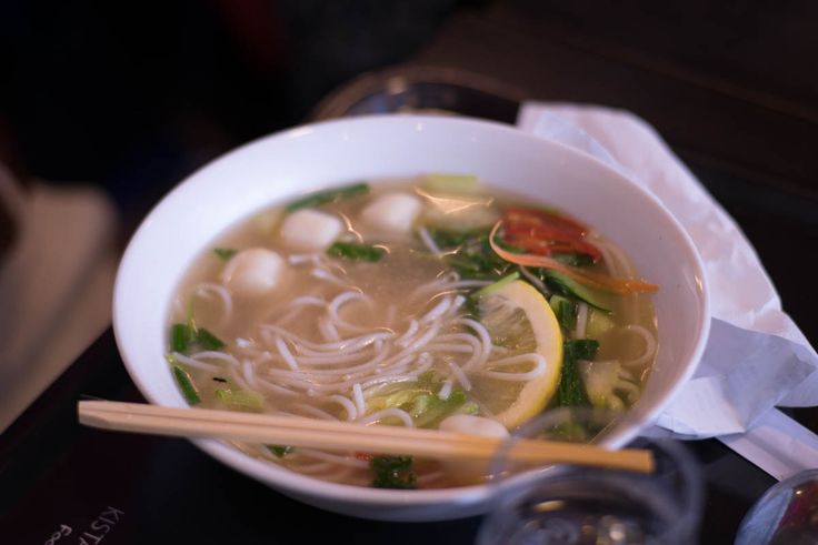 Very good noodle soup at Kista