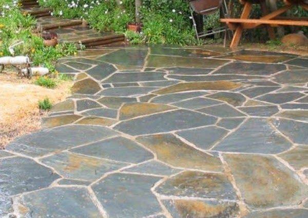 Las 25 mejores ideas sobre patios de concreto estampados for Piedras para patio