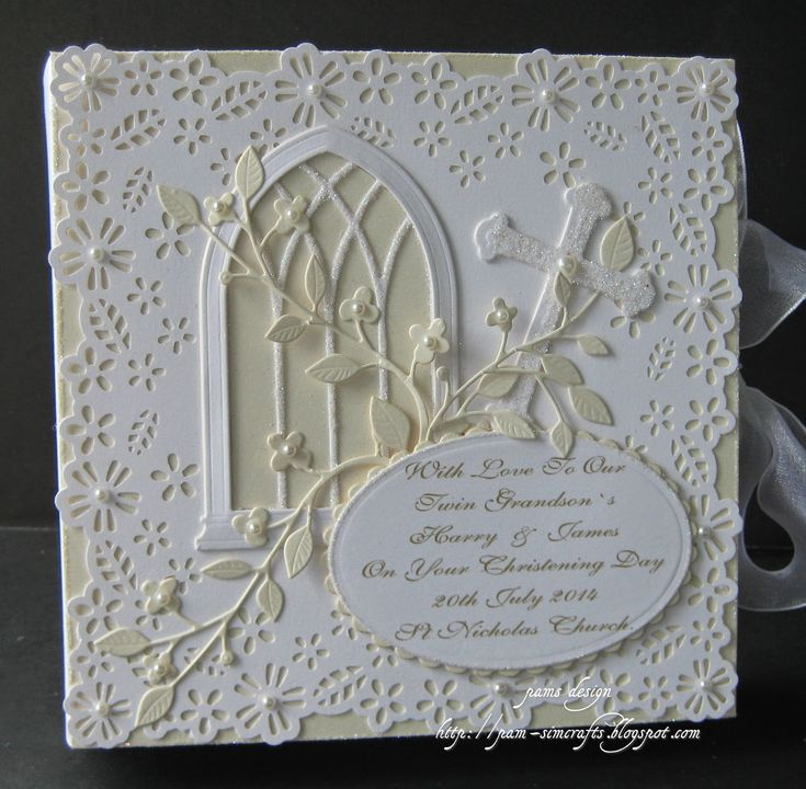 pamscrafts: christening framed box card