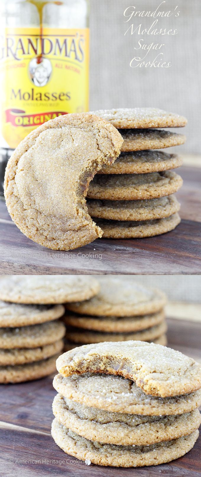 A recipe for my Grandma's Molasses Sugar Cookies | Crispy on the outside and chewy within! The perfect cross between a gingersnap, sugar cookie and gingerbread!