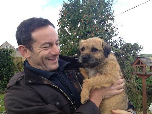 Jackson Brodie (Jason Isaacs) and dog from Started Early, Took My Dog--Season 2 of Kate Atkinson's Case Histories. Via @alisonbarrow