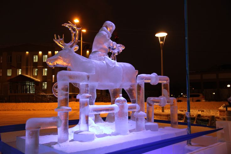 Polyarnaya Rapsodiya. Ice sculptors contest