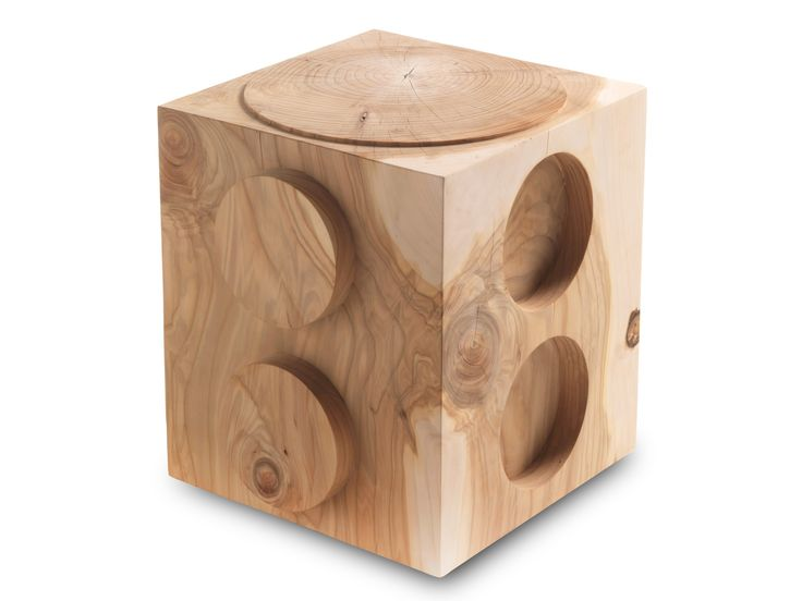 Buy online L'ego By riva 1920, low cedarwood stool design Alessandro Guidolin