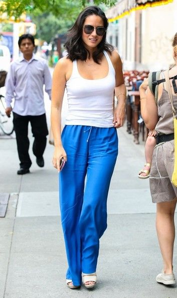 Olivia Munn's Electric Blue Pants