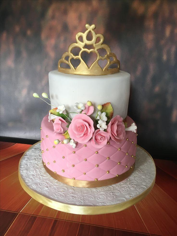 1st Birthday cake, princess cake