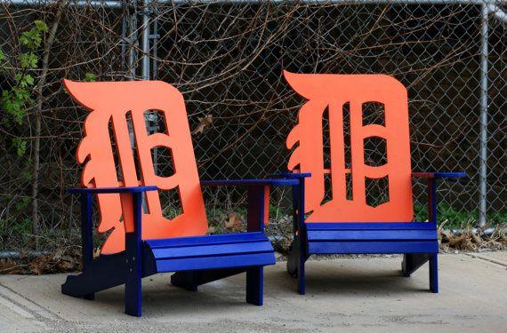 Chaise Adirondack de Detroit Tigers par WileyConcepts sur Etsy