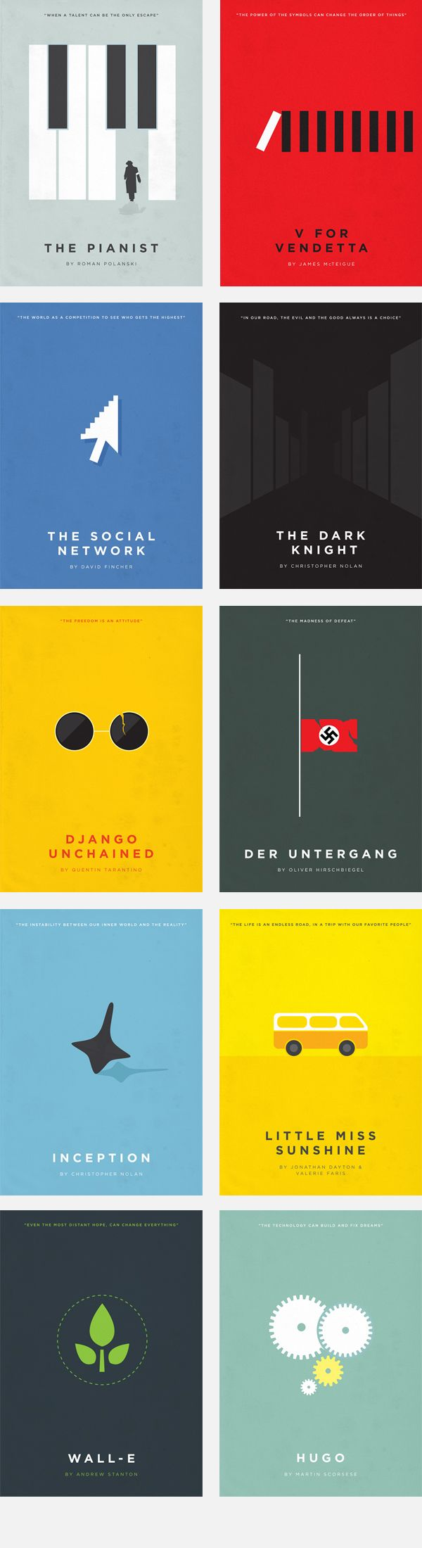 Minimalist Movie Posters Vol. II by Eder Rengifo, via Behance