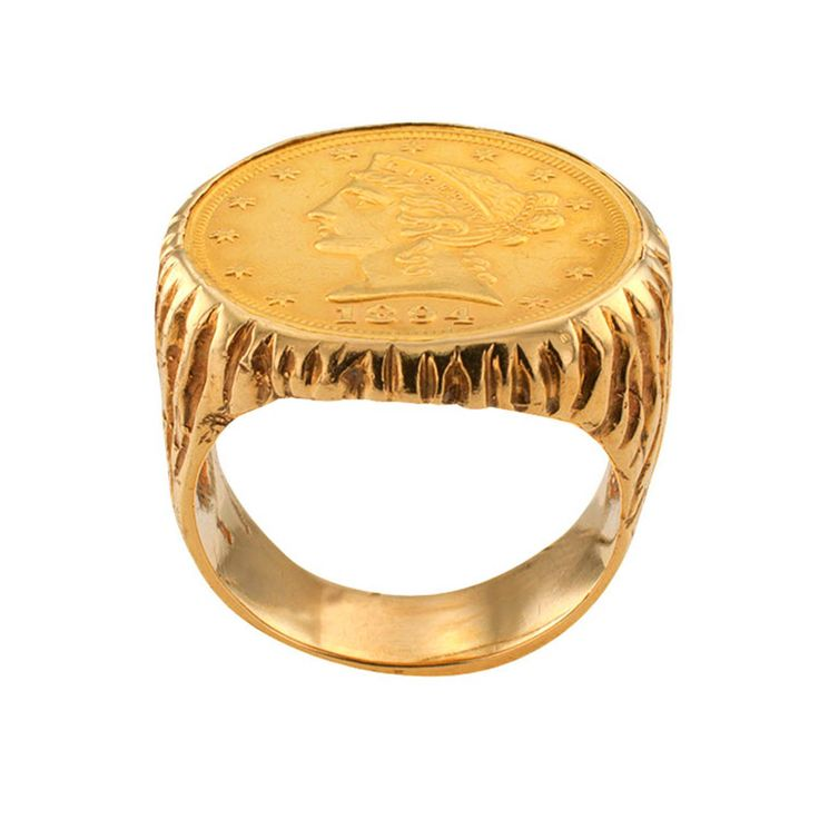 1970 US Five Dollar Liberty Gold Coin Ring 2