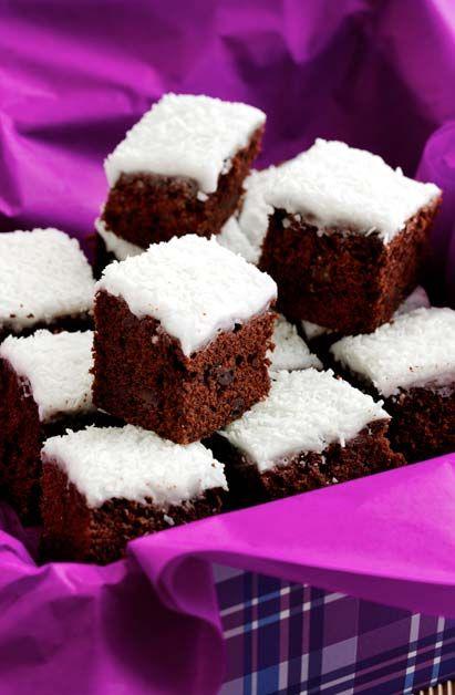 Chokolade kage med kokos glasur