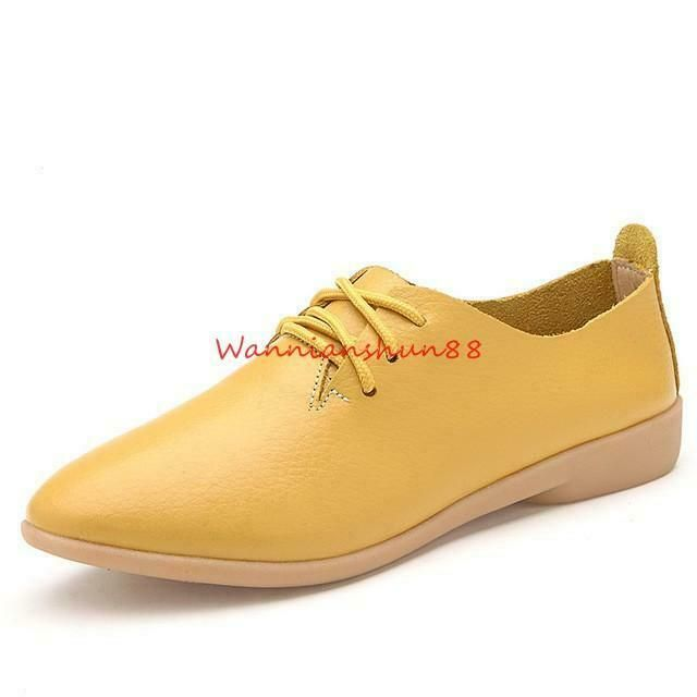 Womens Flat Lace up Oxfords Girls Driving Moccasins Loafers Casual Fashion Shoes