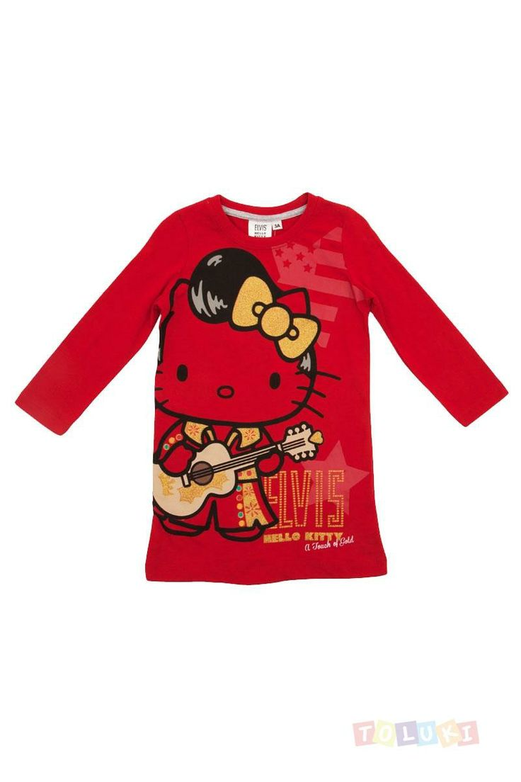 Nuisette Hello Kitty Elvis rouge | http://www.toluki.com/ #Toluki #enfant