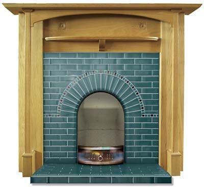 Hampstead tiled fireplace insert   Twentieth Century Fireplaces