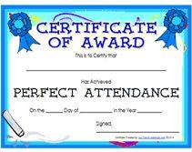 printable perfect attendance award