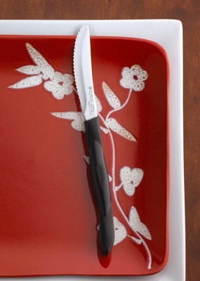 Love these table knives from Cutco.  Great for cutting meat and even tomatos!