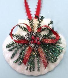 Irish Scallop Pinecone Christmas Ornament (http://www.caseashells.com/irish-scallop-pinecone-ornament/)