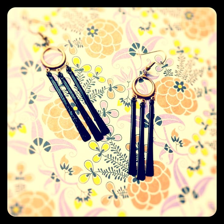 Vintage enamel earrings - now available at Retrospections