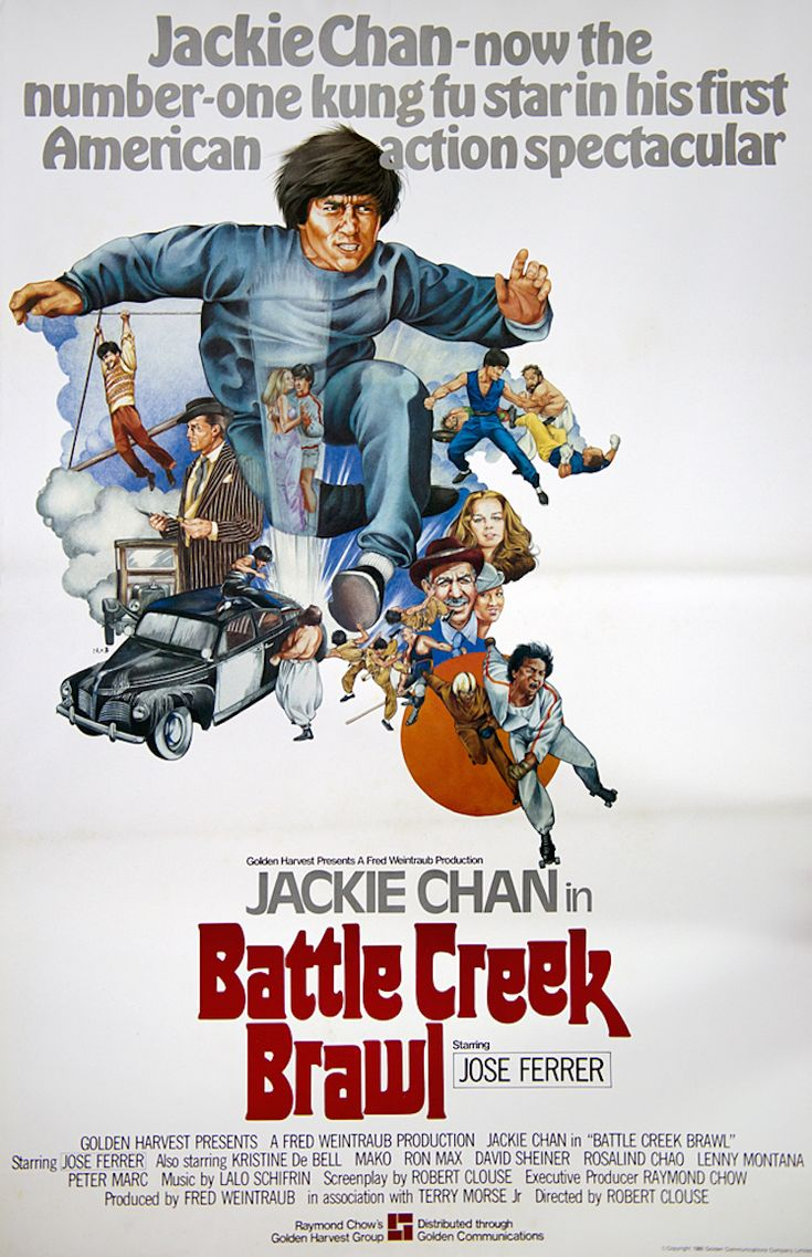 "Battle Creek Brawl (1980) Stars: Jackie Chan, Kristine DeBell, José Ferrer, Mako, David Sheiner ~ Director: Robert Clouse (aka ""The Big Brawl"")"