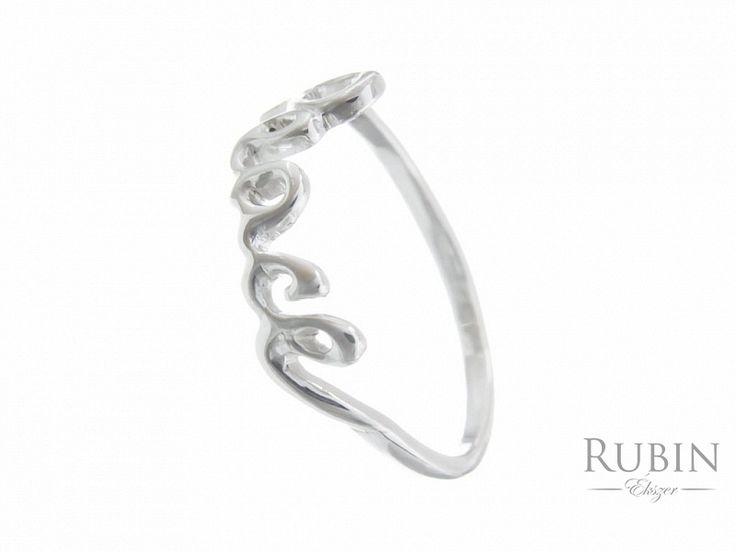Peace motívumos ezüst gyűrű