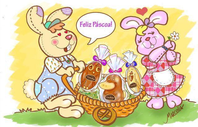 Desejos de Páscoa feliz.