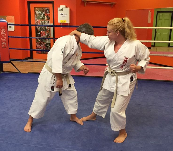 The self-defence technique I have chosen today is an in-line wrist grab, this is a very common action to be grabbed and pulled forwards, step 5.