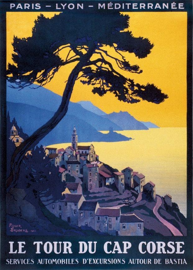 Affiches vintage de Corse