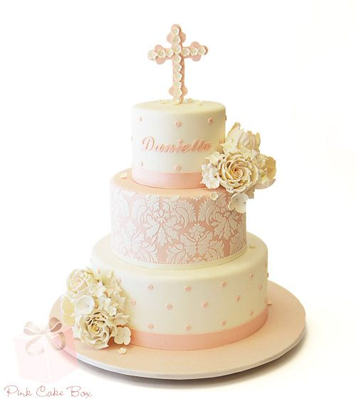Daniella's Baptism Cake by Pink Cake Box in Denville, NJ.
