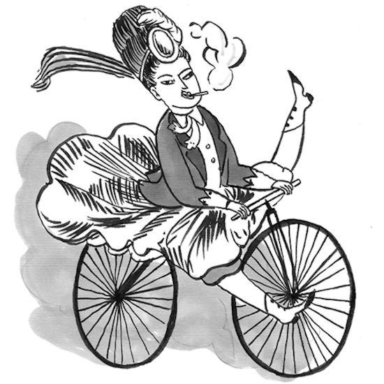 Kate Beaton bike lady