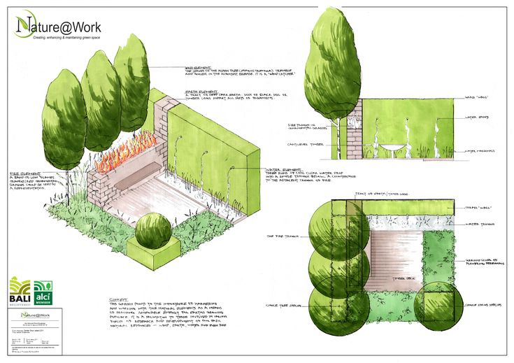 Design which was produced for the show garden.