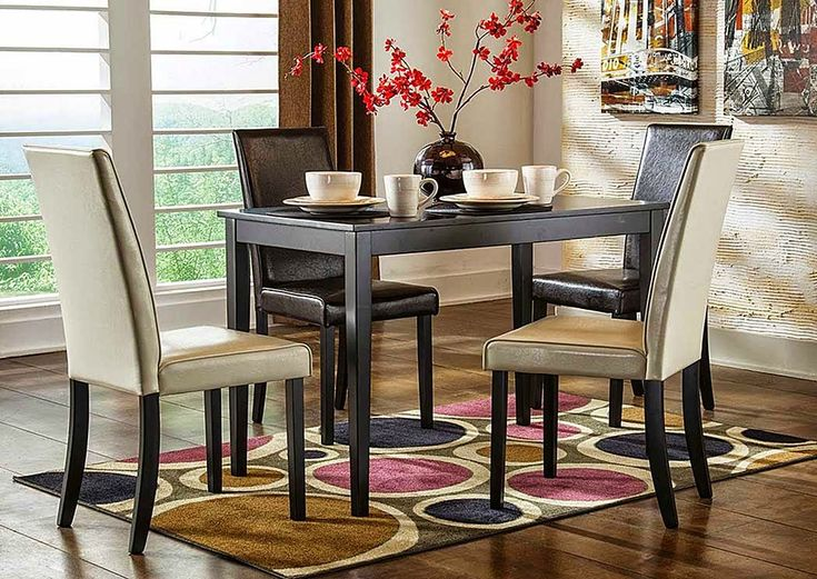 Kimonte Rectangular Dining Table W/ 2 Dark Brown Chairs U0026 2 Ivory  Chairs,Signature. Corner FurnitureDining Room SetsDining ...
