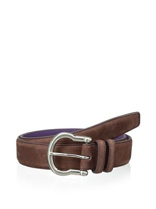53% OFF Ike Behar Men's Nubuck Belt (Chestnut)