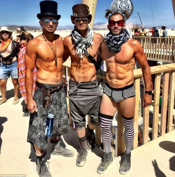 NO FEATHERS!  Good guy attire for burning man.