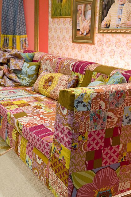 Patchwork sofa - not quite a look I would typically go for but I am definitely liking the idea behind it.