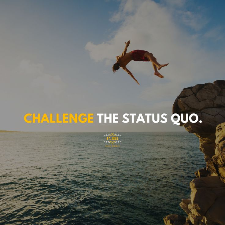 Average people go through a ho-hum life not expecting much 😐, just so that they aren't disappointed 🙇‍♂️. - The Elite ⚜️, on the other hand, are successful because they optimistically CHALLENGE the Status Quo 👑... and then become the status quo!